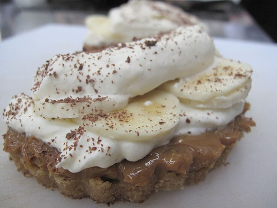 Banoffee pie halves